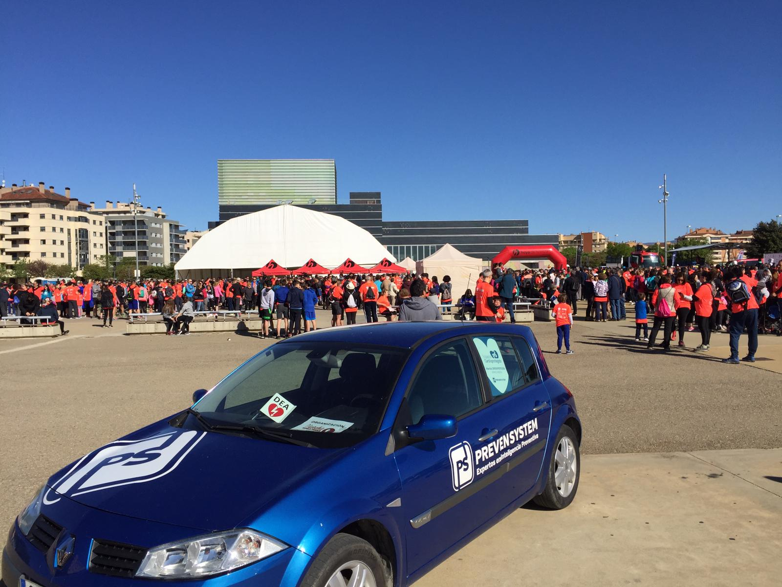 Espacio cardioprotegido en la septima marcha Aspace Huesca